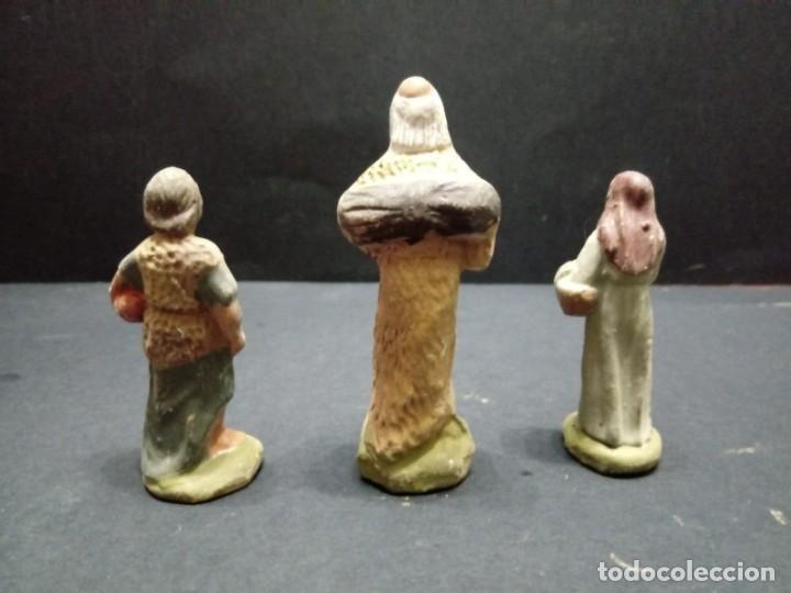 Figuras de Belén: Lote de tres pastores - Foto 4 - 151642266