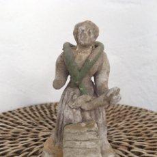 Figuras de Belén: ANTIGUA FIGURA DE BELÉN TERRACOTA LAVANDERA 8CM. Lote 153065310