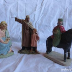 Figuras de Belén: FIGURAS DE BELEN UNA CON EL SELLO SERRANO. Lote 153328902
