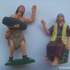 Figuras de Belén: LOTE DE 2 FIGURITAS DE BELEN : PASTORES. Lote 155674034