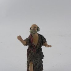 Figuras de Belén: FIGURA DE BELEN DE BARRO, ANGEL, ORTIGAS, MIDE 9 CMS. DE ALTURA,. Lote 155750678