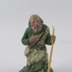 Figuras de Belén: FIGURA DE BELEN DE BARRO, ANGEL, ORTIGAS, MIDE 8 CMS. DE ALTURA,. Lote 155751034