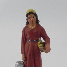 Figuras de Belén: FIGURA DE BELEN DE BARRO, ANGEL, ORTIGAS, MIDE 8 CMS. DE ALTURA,. Lote 155751214