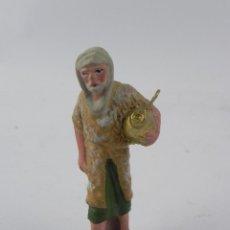 Figuras de Belén: FIGURA DE BELEN DE BARRO, ANGEL, ORTIGAS, MIDE 8 CMS. DE ALTURA,. Lote 155751558