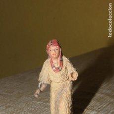 Figuras de Belén: FIGURA DE BELÉN ANTIGUA, BARRO O TERRACOTA. Lote 155862466