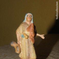 Figuras de Belén: FIGURA DE BELÉN ANTIGUA, BARRO O TERRACOTA. Lote 155862770