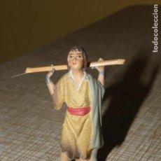 Figuras de Belén: FIGURA DE BELÉN ANTIGUA, BARRO O TERRACOTA. Lote 155864438