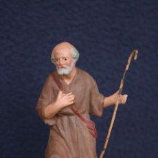 Figuras de Belén: ESTUPENDA FIGURA DE PASTOR. PESEBRE, BELEN, EN TERRACOTA O BARRO.. Lote 155922874