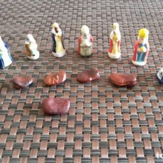 Figuras de Belén: LOTE DE 8 FIGURITAS Y 6 HABAS DEL ROSCÓN DE REYES. Lote 156998994