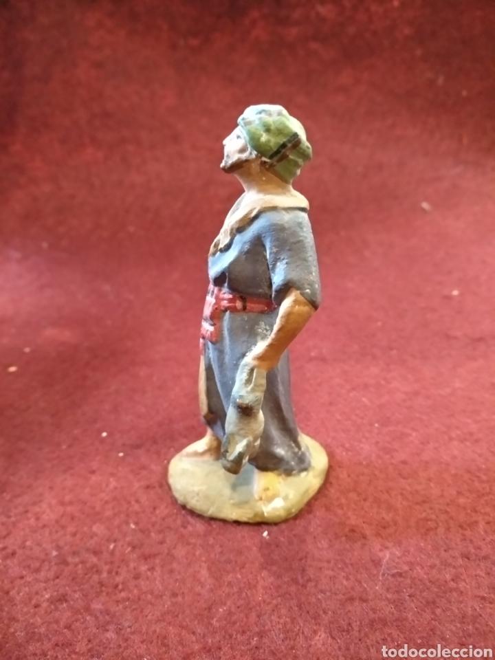 Figuras de Belén: Antigua figura de belen de barro y plomo - Foto 2 - 158275785
