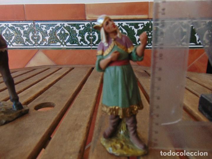 Figuras de Belén: FIGURA DE BELEN EN ESTUCO POLICROMADO OLOT ?? LOS TRES REYES MAGOS Y SUS PAJES - Foto 15 - 159691522