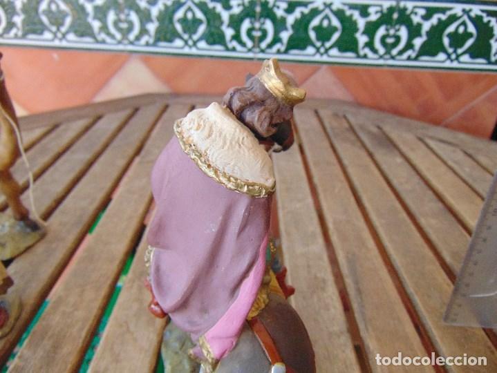 Figuras de Belén: FIGURA DE BELEN EN ESTUCO POLICROMADO OLOT ?? LOS TRES REYES MAGOS Y SUS PAJES - Foto 24 - 159691522