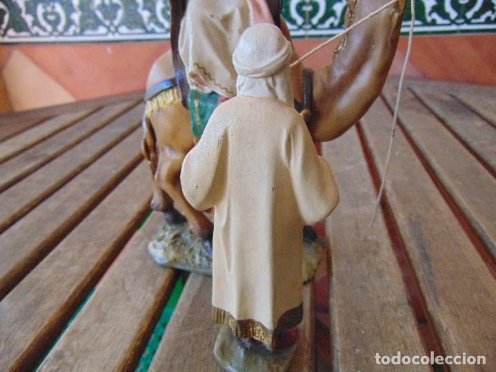Figuras de Belén: FIGURA DE BELEN EN ESTUCO POLICROMADO OLOT ?? LOS TRES REYES MAGOS Y SUS PAJES - Foto 33 - 159691522
