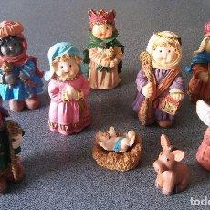 Figuras de Belén: LOTE MUÑECOS BELÉN RESINA. Lote 160102326