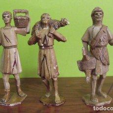 Figuras de Belén: LOTE 3 FIGURAS PVC PASTORES PORTAL DE BELÉN . Lote 160517730