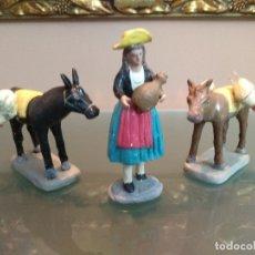 Figuras de Belén: FIGURA BELEN PESEBRE NACIMIENTO BARRO TERRACOTA MUY ANTIGUO ALTO PASTORA 12 CMS. Lote 158632758
