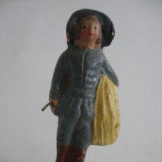 Figuras de Belén: ANTIGUA FIGURA PASTOR LUGAREÑO EN TERRACOTA BARRO MURCIA. Lote 163466610