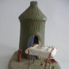 Figuras de Belén: ANTIGUA COMPOSICIÓN EN TERRACOTA ( FIRMADO ) BARRO MURCIA. Lote 163473190