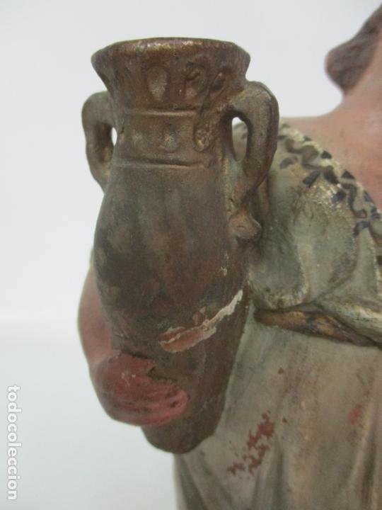 Figuras de Belén: Antigua Figura de Belén, Nacimiento - Terracota Policromada - Posible Ramón Amadeu- S. XVIII-XIX - Foto 5 - 165043126