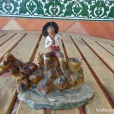 Figuras de Belén: ANTIGUA FIGURA DE BELEN EN BARRO TERRACOTA ANGEL MARTINEZ ?? EL PUERTO DE SANTA MARIA RESTAURAR. Lote 165179366