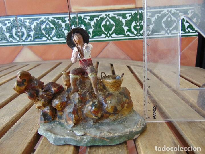 Figuras de Belén: ANTIGUA FIGURA DE BELEN EN BARRO TERRACOTA ANGEL MARTINEZ ?? EL PUERTO DE SANTA MARIA RESTAURAR - Foto 2 - 165179366