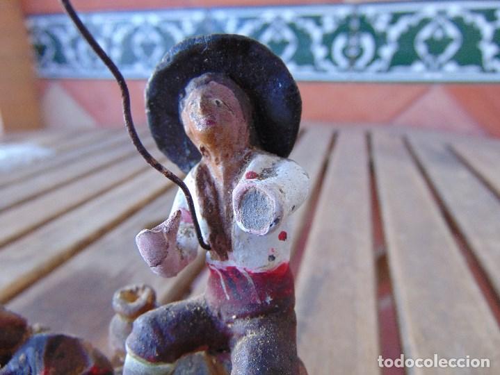 Figuras de Belén: ANTIGUA FIGURA DE BELEN EN BARRO TERRACOTA ANGEL MARTINEZ ?? EL PUERTO DE SANTA MARIA RESTAURAR - Foto 15 - 165179366