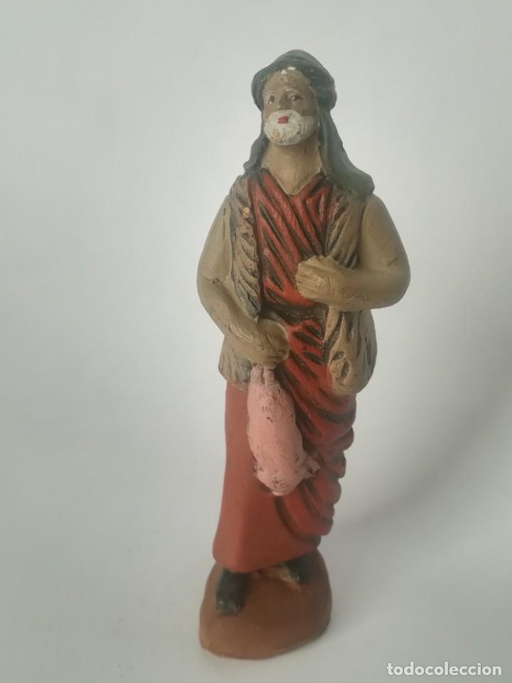 BELÉN PASTOR TERRACOTA BARRO MAESTROS ARTESANOS MURCIA (Coleccionismo - Figuras de Belén)