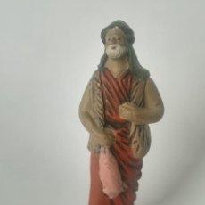 Figuras de Belén: BELÉN PASTOR TERRACOTA BARRO MAESTROS ARTESANOS MURCIA. Lote 169739248