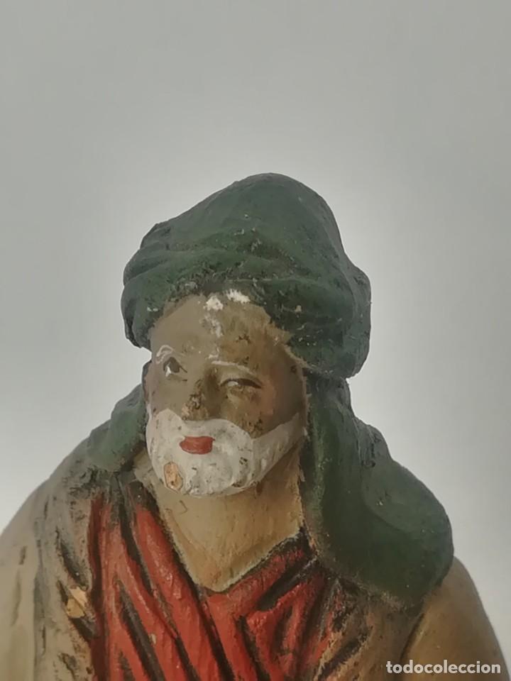 Figuras de Belén: Belén pastor terracota barro maestros artesanos Murcia - Foto 2 - 169739248