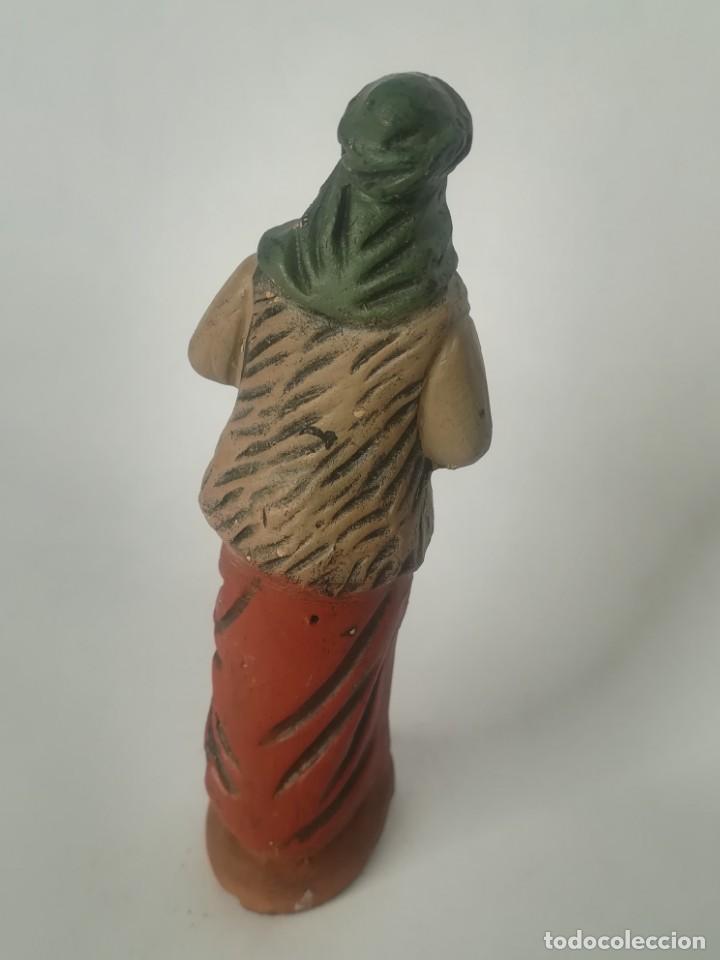 Figuras de Belén: Belén pastor terracota barro maestros artesanos Murcia - Foto 4 - 169739248