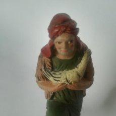 Figuras de Belén: BELÉN PASTOR BARRO TERRACOTA MAESTROS ARTESANOS MURCIA. Lote 169739408