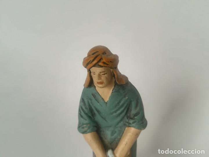 Figuras de Belén: Belén pastor barro terracota maestros artesanos Murcia - Foto 5 - 169739592