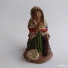 Figuras de Belén: FIGURA BELÉN/NACIMIENTO/PESEBRE. PASTORA. BARRO. ESPAÑA. Lote 169797872