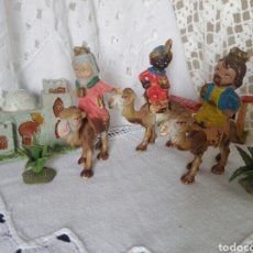 Figuras de Belén: REYES MAGOS A CAMELLO BELÉN FERRANDIZ. Lote 170545566