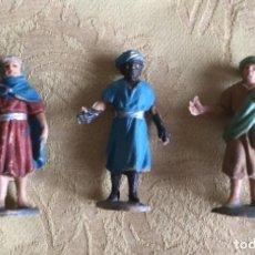 Figuras de Belén: FIGURAS DE BELÉN VINTAGE 3 PAJES DE REYES MAGOS. Lote 171448445