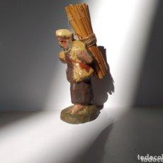Figuras de Belén: FIGURA.PESEBRE BELÉN HECHA A MANO 1890-1910 RECOLECTOR OLOT?. Lote 173187589
