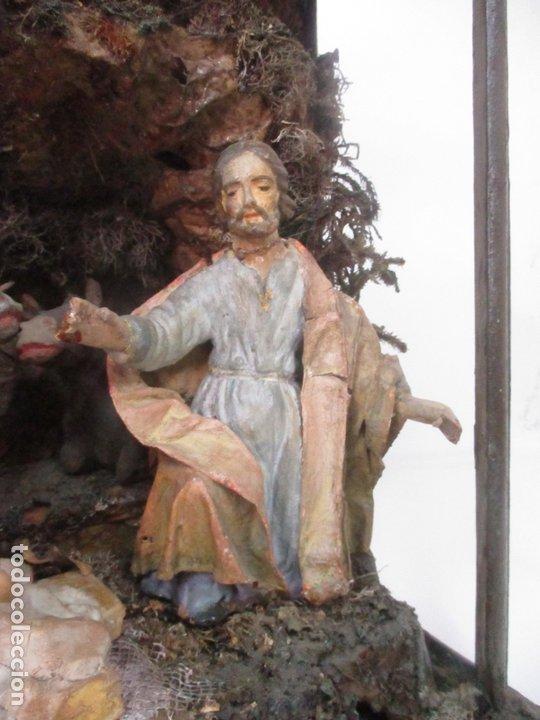 Figuras de Belén: Antiguo Nacimiento Barroco - Figuras de Belén en Terracota Policromada - Capilla Original - S. XVIII - Foto 7 - 174058247