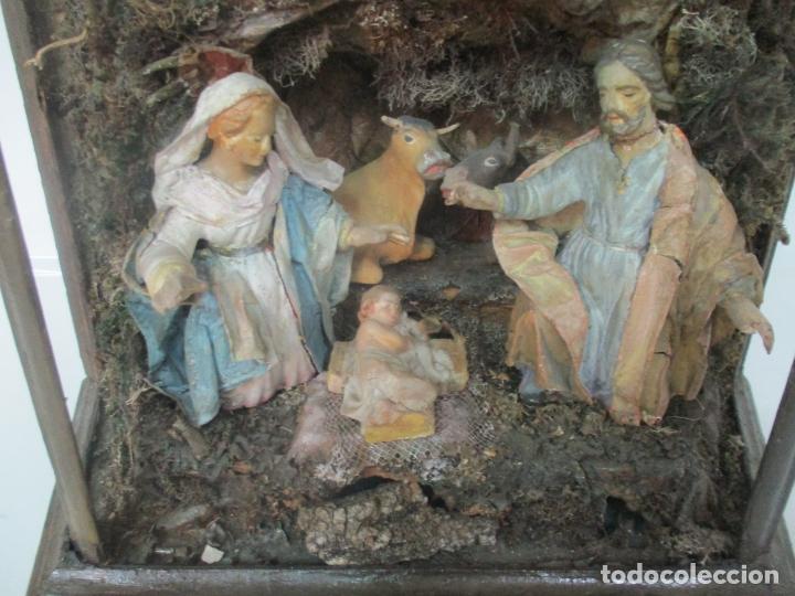 Figuras de Belén: Antiguo Nacimiento Barroco - Figuras de Belén en Terracota Policromada - Capilla Original - S. XVIII - Foto 9 - 174058247