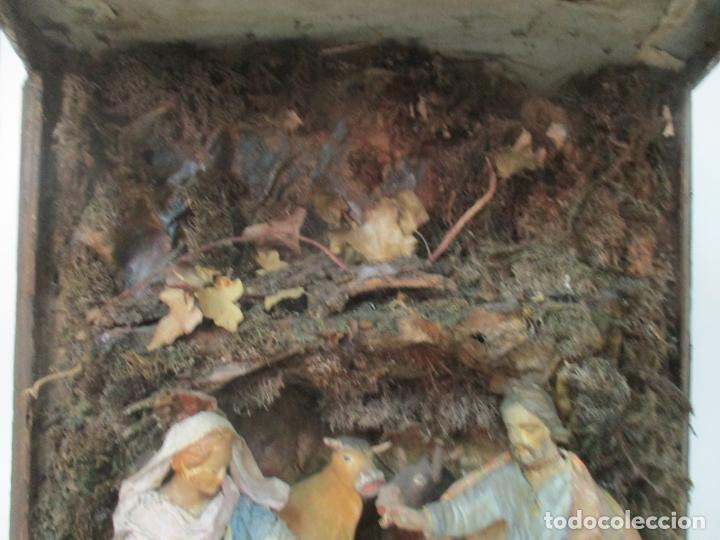 Figuras de Belén: Antiguo Nacimiento Barroco - Figuras de Belén en Terracota Policromada - Capilla Original - S. XVIII - Foto 12 - 174058247