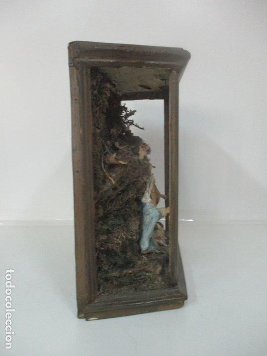Figuras de Belén: Antiguo Nacimiento Barroco - Figuras de Belén en Terracota Policromada - Capilla Original - S. XVIII - Foto 20 - 174058247