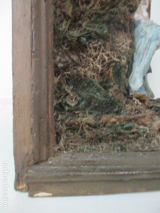 Figuras de Belén: Antiguo Nacimiento Barroco - Figuras de Belén en Terracota Policromada - Capilla Original - S. XVIII - Foto 21 - 174058247