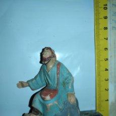 Figurines pour Crèches de Noël: ANTIGUA FIGURA PORTAL DE BELEN PLASTICO DURO - VER MEDIDA EN FOTO - RARO MODELO RARISIMO . Lote 174529275