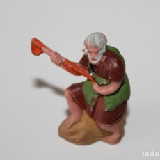 Figuras de Belén: ANTIGUAS FIGURA DE BELEN PASTOR SENTADO - DESCONOZCO SU FABRICANTE - AÑOS 60 - PEDIDO MINIMO 5€. Lote 176804798