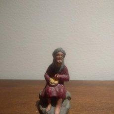 Figuras de Belén: ANTIGUA FIGURA DE BELÉN PASTOR COCINANDO - TERRACOTA - VER FOTOS. Lote 177396047
