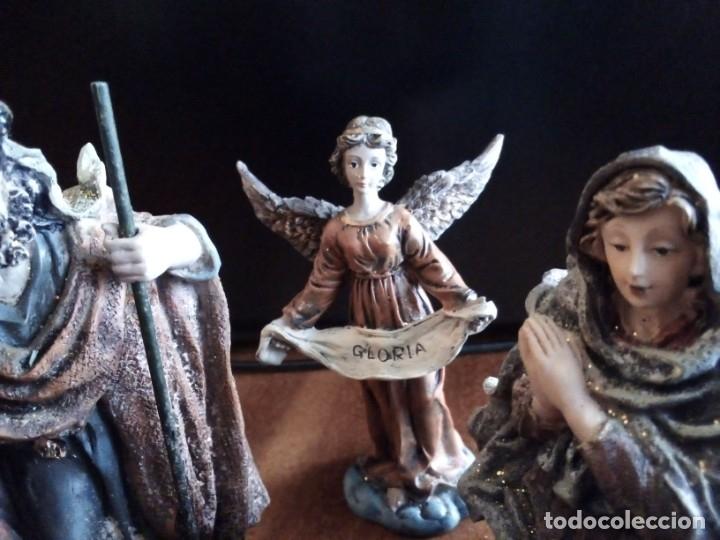 Figuras de Belén: Reyes Magos, San José, La Virgen, Niño Jesús en pesebre, Arcangel, Mula y Buey. TERRACOTA O RESINA - Foto 7 - 177713812