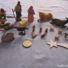 Figuras de Belén: VARIAS FIGURAS DE PESEBRE EN PLÁSTICO Y DISTINTAS MEDIDAS. Lote 177872004