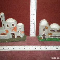 Figuras de Belén: LOTE 2 PLASTICO PECH CASAS ARABES DIFERENTES BELEN NACIMIENTO APROX 1970. Lote 178577853