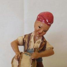 Figuras de Belén: ANTIGUA FIGURA EN YESO DE EL TIMBALER DEL BRUC 13,5 CM.. Lote 178591097