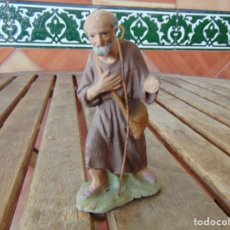 Figuras de Belén: FIGURA DE BELEN EN BARRO O TERRACOTA COMPLETAR Y RESTAURAR PASTOR PASTORA. Lote 179200510