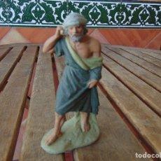 Figuras de Belén: FIGURA DE BELEN EN BARRO O TERRACOTA COMPLETAR Y RESTAURAR PASTOR PASTORA. Lote 179200562